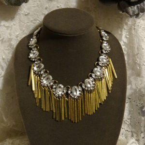 Baublebar Statement Gold Fringe Necklace Clear RS